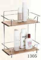 bathroom rack with bamboo 1305