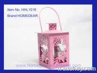 Sell HHL1016 metal lantern with butterfly