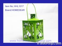 Sell 6.7X6.7X12CM metal hurricane lantern with butterfly
