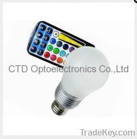 5W RGB LED Bulbs E27 With Remote Control Lamp