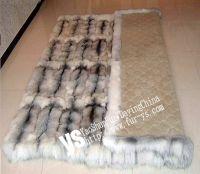 Sell cross fox  rugs, fox fur shawl, fox fur muffer, fox fur earmuff