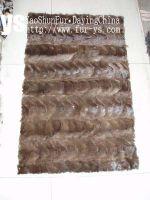 Sell  mink fur plate, tanned mink fur skin