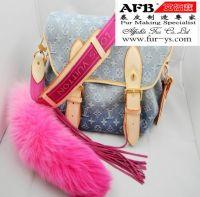 Sell fox tail fur keychain, fox tail fur  bag hanging