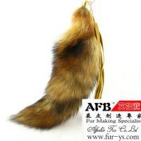 Sell fur accessory fur fox pendant, fox tail keyring, fur hat