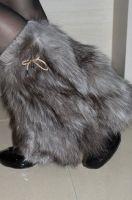 Sell fox fur leg warmers, fashion fur legging