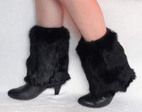 Sell rabbit fur leg warmers, fashion fur legging, fur boot toopers