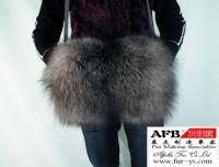 Sell fox fur hand warmer muff, fur muff