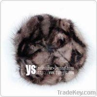 Sell mink fur scrunchie, mink fur flower
