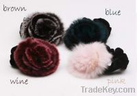 Sell fur tape flower shape hair bands hair ornaments jewelry