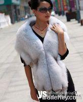 Sell genuine blue fox fur cape