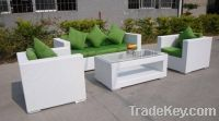 Sell White outdoor furniture rattan sofa sets PF-YY6035
