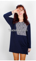 Woman pattern Box T-shirt From Korean sytle
