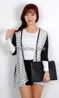Hot Summer Cool striped cardigan from korean style
