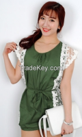 Line Lace Women Blouse From Korean Style