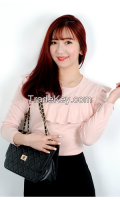 Woman Cute Lace point T-shirt From Korean sytle