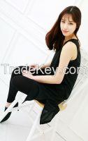 women's sleeveless dress top black color for summer dress top