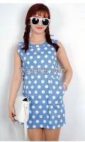 Pretty Woman Dot Pattern Dress from korean style