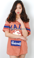 Yale printing long t-shirt from korean style