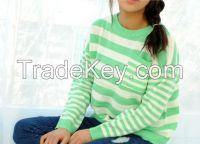 Women's Knit Top for Spring Season Stripe Top Free Size