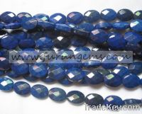 Sell natural blue lapis faceted oval beads 16x12mm