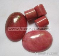 Sell natural pink rhodonite oval cabochons 20x25mm