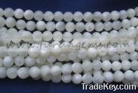 Sell 6mm MOP round beads white.