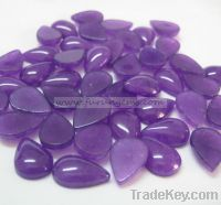 Sell purple jade pear cabochons 10x15mm