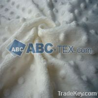 100% polyester minky dot fabric for baby blanket