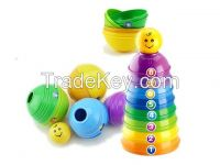 Puzzle toys stacked cups
