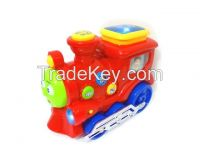 Educational learning toys train with electronic quiz game