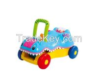 Switchable toys crocodile prince baby walker 2 in 1(ride-on or push forward)
