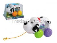 Cable toys dalmatians pet with music and lights
