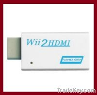 Wii to HDMI Converter Output Upscaling Adapter 3.5mm audio Box