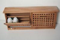 2 door wooden shoe cabinet