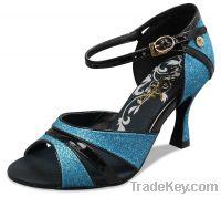 Ankle strap latin shoe LD2202-01