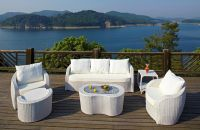 Indoor Outdoor Patio Garden Furniture with Rattan Dinning Set