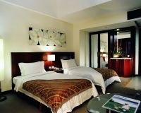 Sell five star hotel solid wood  bed