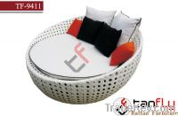 Sell TF-9411 Wicker Round Sun Lounger with canopy option