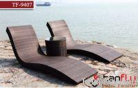Sell TF-9407 rattan outdoor sun lounge