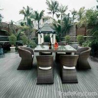 Sell tf-9105 rattan dining table and chairs