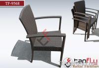 cheap pe stackable rattan aluminum chair