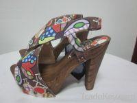romero britto shoes, slipper, sandal, flip flop