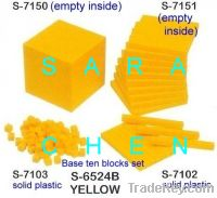 Base 10 blocks set