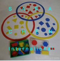 SMALL SORTING RINGS WITH ATTRIBUTE BLOCKS, 75 PCS