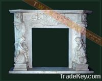 Sell white marble fireplace mantel & surround