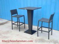 Garden Furniture Fashion Rattan Bar Table and Chair