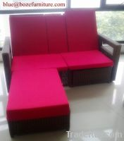 Outdoor Furniture Double Seats Chaise Lounge / Lounge Bed BZ-C090