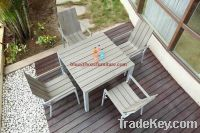 Outdoor Furniture Plastic Wood / Poly Wood Dining Set (BZ-DP004)