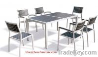 Garden Furniture Plastic Wood / Poly Wood Dining Set