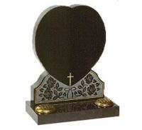 export black granite tombstone